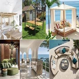 9 تصاميم مدهشة لمفروشات خارجية للمنزل