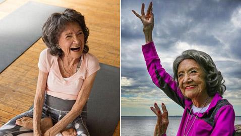 تاو.. 100 عام أكبر معلمة يوجا فى العالم