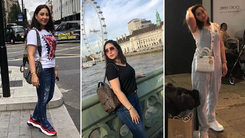 بالصور: المطربة بوسي تنفي إلقاء القبض عليها بتجولها في شوارع لندن
