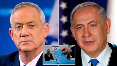 الانتخابات الإسرائيلية: تعادل بين نتنياهو وغانتس حسب النتائج الأولية