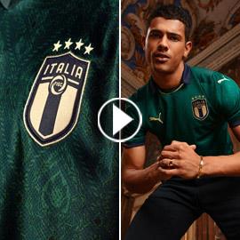 بعد 100 عام.. منتخب إيطاليا يستبدل (قميص العمر)! فيديو وصور