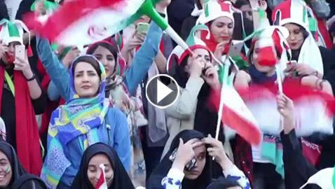 نساء إيران بالآلاف في ملعب لكرة القدم لأول مرة منذ 40 عاما