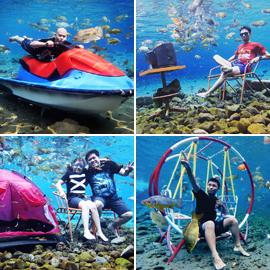 لالتقاط صور غريبة تحت الماء... بحيرة في قرية إندونيسية تتحول إلى مزار سياحي شهير (صور)