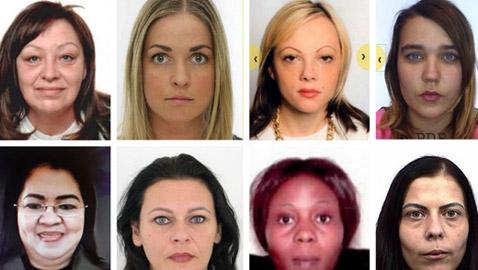 البحث عن «أخطر» النساء في أوروبا.. تم تعميم صور وجوههن في 21 دولة