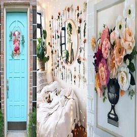 5 أفكار لتزيين المنزل بالأزهار الصناعية