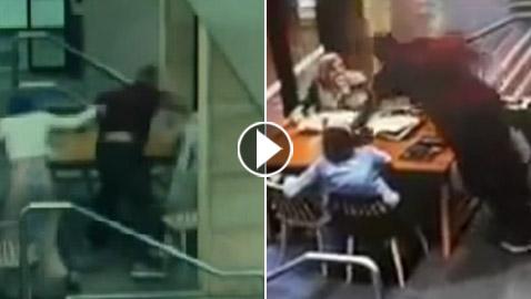 فيديو صادم: أسترالي عنصري ينهال بالضرب الوحشي على امرأة عربية محجبة!