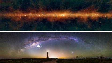 مشهد فريد ومميز لمجرتنا مجرة درب التبانة يكشف أسرارا غير متوقعة!