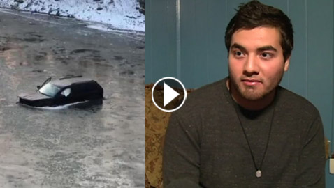 جملة واحدة أنقذت رجلا من الهلاك في نهر متجمد