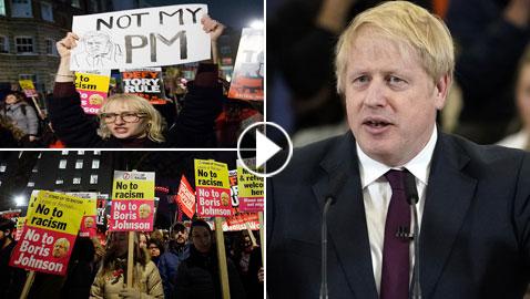 ليس رئيس وزرائنا.. احتجاجات في لندن رفضاً لفوز جونسون