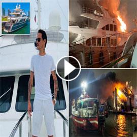"""حريق يدمر يخت """"مارك أنتوني"""" طليق جينيفر لوبيز.. 7 ملايين دولار غرقت  .."""