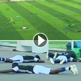هجوم سرب نحل يوقف مباراة كرة ويجبر اللاعبين على الانبطاح أرضا!