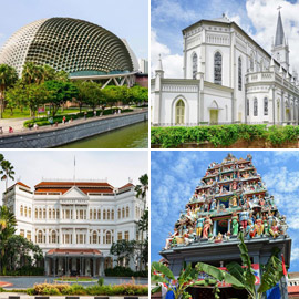بالصور: تعرفوا على أشهر 10 مباني مميزة في سنغافورة