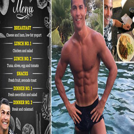 تعرف على الطبق السحري والحمية الغذائية لعضلات رونالدو