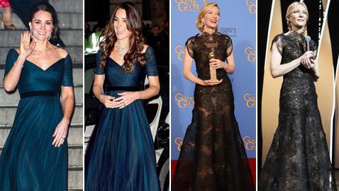 نجمات وأميرات ظهرن بنفس الفستان القديم، إحداهن بعد 30 عاما!