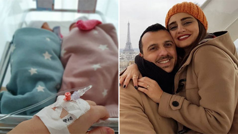 صور: إيميه صياح ترزق بتوأم: صلينا لمعجزة فرزقنا الله باثنين!