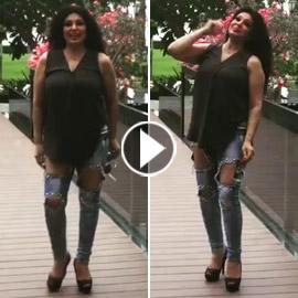 هجوم شرس على فيفي عبده بعد ظهورها ببنطال ممزق! فيديو