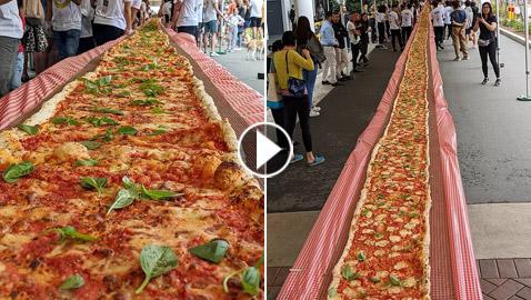 بيتزا ضخمة بطول 103 أمتار في حملة لمكافحة حرائق أستراليا!