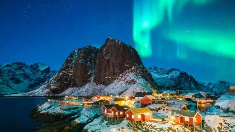 بالصور: ظاهرة الشفق القطبي الطبيعية