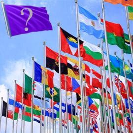 لماذا لا تستخدم الدول اللون الأرجواني في الأعلام الوطنية؟  ..