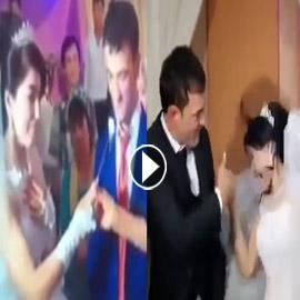 5 فيديوهات صادمة: حين تداعب العروس عريسها في حفل الزفاف فيصفعها!