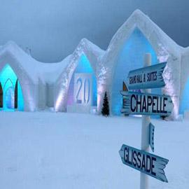 فندق بديكور مصنوع بالكامل من الجليد