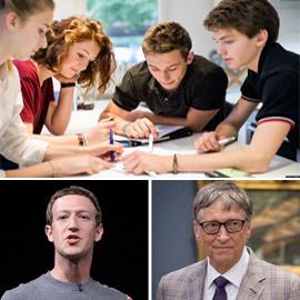 المراهقون يقتحمون عالم الأعمال بقوة وقدوتهم مارك زوكربيرغ وبيل غتيس