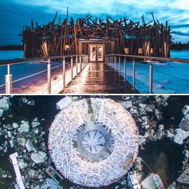 بالصور: افتتاح فندق عائم فاخر جديد يطفو على سطح المياه في السويد