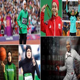 صور بطلات رياضة مسلمات محجبات اشتهرن عالميا