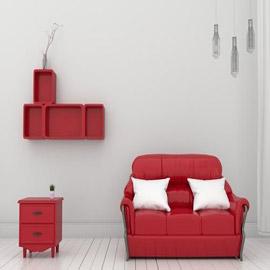 ديكورات باللون الأحمر لمنزل كله حب