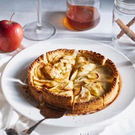 طريقة تحضير فطيرة التفاح بالقرفة والزنجيل