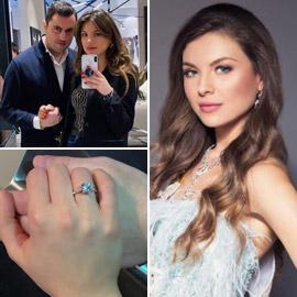 صور خطوبة ملكة جمال لبنان مايا رعيدي (شبيهة جورجينا رزق) من المحظوظ؟