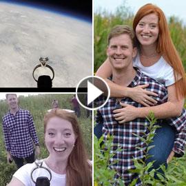 فعلٌ يفوق التوقعات.. طيار يرسل خاتم خطوبة إلى الفضاء في عرض زواج  ..