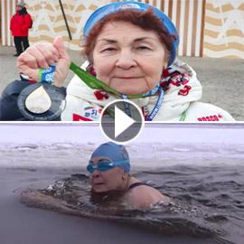 فيديو وصور: روسية عمرها 83 عاما تفوز ببطولة العالم فى السباحة!