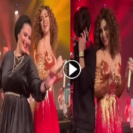 فيديو ميريام فارس في تحدي رقص شرقي مع معجبيها في الامارات