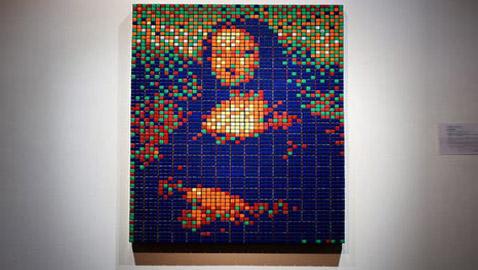 بالصور: نصف مليار دولار ثمن لوحة الموناليزا بمكعبات الروبيك!