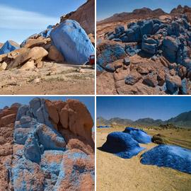 فعل الطبيعة أم الإنسان.. ما حقيقة الصحراء الزرقاء بسيناء مصر؟ صور