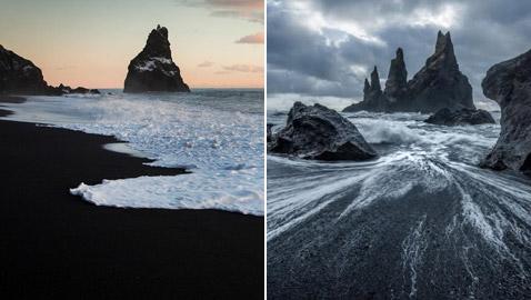 الأجمل في العالم.. شاطئ رينيسفجارا الأسود من عجائب أيسلندا! صور