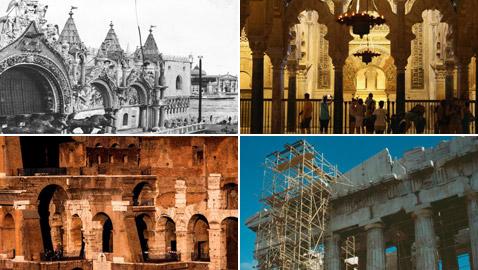 مبان تاريخية أثرية من حول العالم.. شاهدوا كيف تغيرت عبر القرون