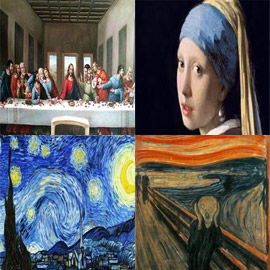 صور أجمل اللوحات الفنية العالمية
