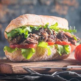 إليكم طريقة تحضير ساندويتش شرائح اللحم بالخضار للرجيم