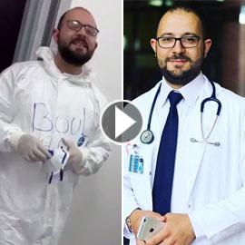 بالفيديو: أطباء من داخل المستشفى لبناني... سوف نبقى هنا