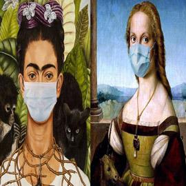 الفن في زمن كورونا: الموناليزا بكمامة! شاهد باقي اللوحات الشهيرة!