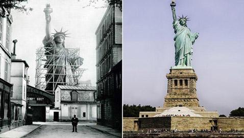 صور لتشييد أكثر المعالم شهرة في العالم