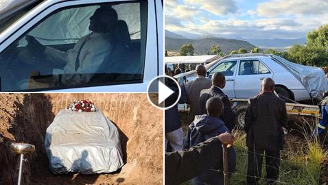 وصية عجيبة وغريبة.. دفنوه مع سيارته في إفريقيا! فيديو وصور