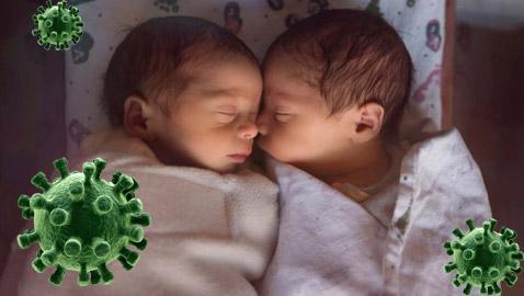 في زمن الوباء.. ولادة توأم هندي اسمهما (كورونا وكوفيد)!