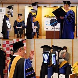 صور: حفل تخرج افتراضي ذكي لطلاب جامعة يابانية بسبب فيروس كورونا