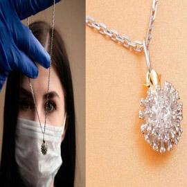 قلادة فيروس كورونا.. شركة مجوهرات روسية تستثمر الأزمة