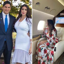 صور ياسمين صبري زوجة أحمد أبو هشيمة في طائرتها الخاصة
