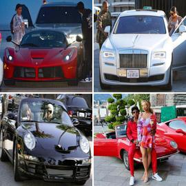 بالصور: أي ثنائي من المشاهير والنجوم يمتلك أروع السيارات؟