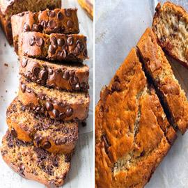 إليكم طريقة تحضير كيك الموز بحبيبات الشوكولاتة الطيب والشهي